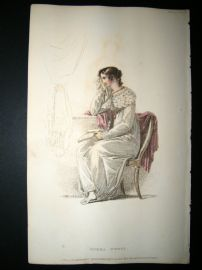 Ackermann 1814 Hand Col Regency Fashion Print. Opera Dress 11-30
